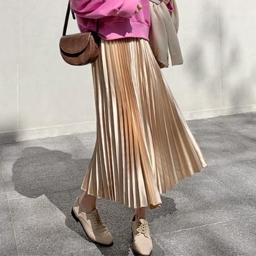 Goldene pleated long skirt