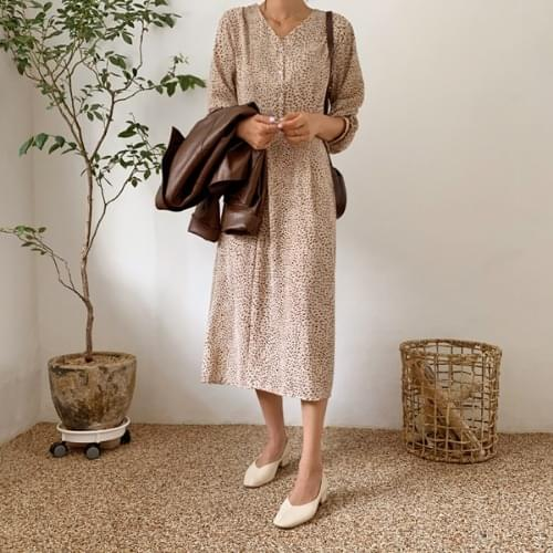 Creme Rubin Leo Long Dress