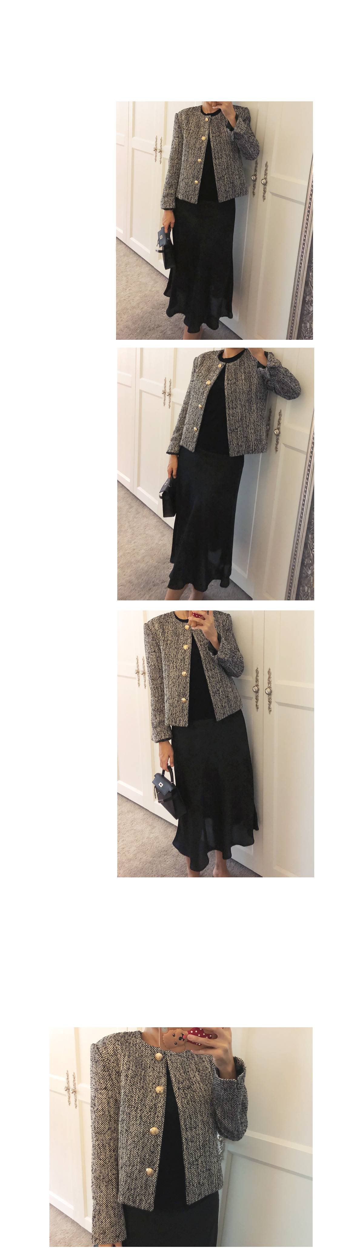 Black jacket with gold button