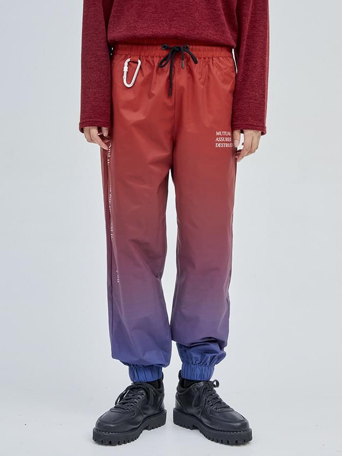 lettering gradation jogger pants (2 color)