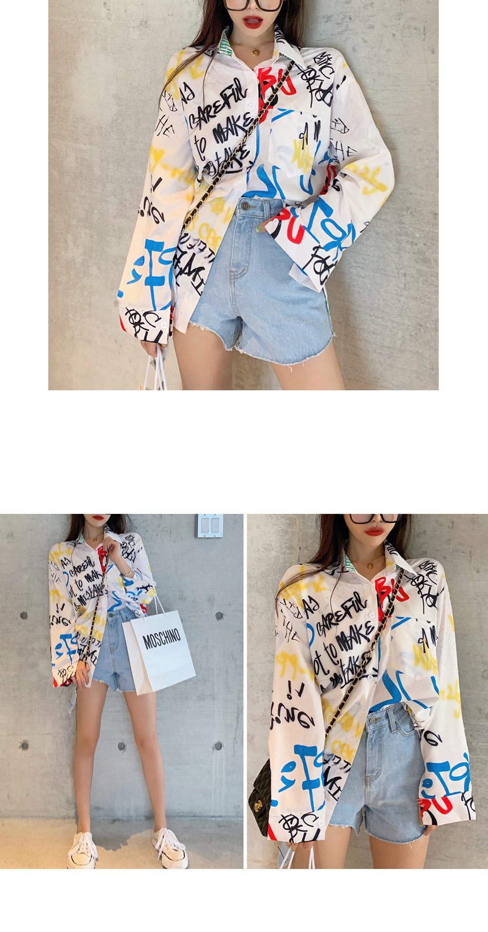 Pattern drawing blouse