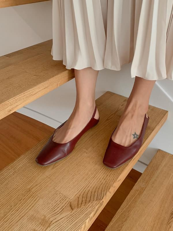 Square Slingback Shoes