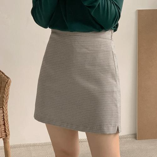 Heim check mini skirt skirt