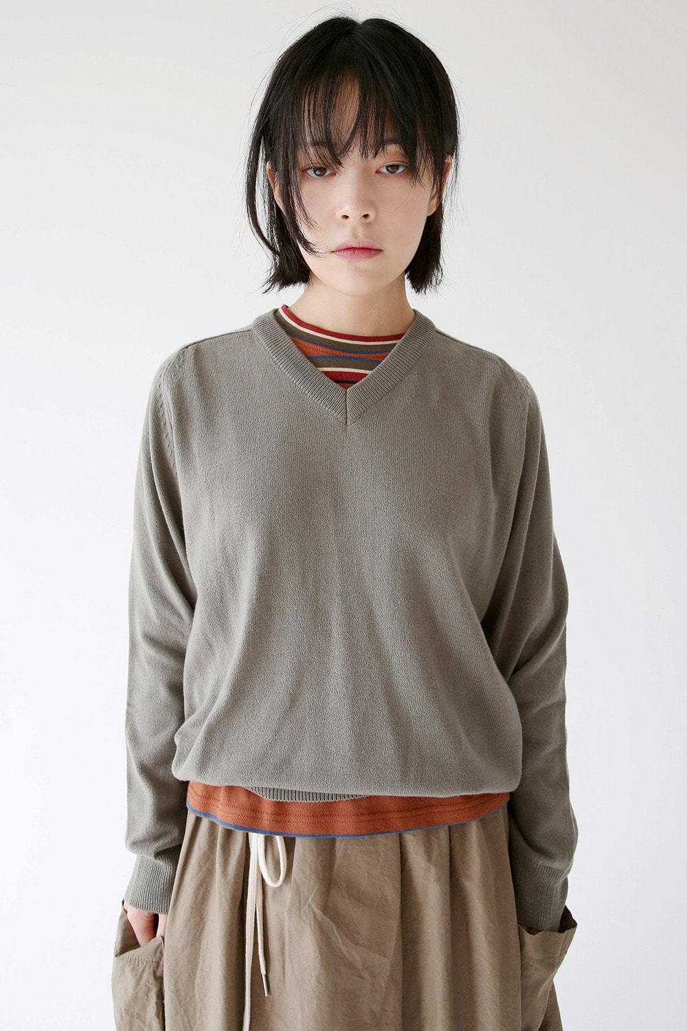 v neck wool knit (3colors)