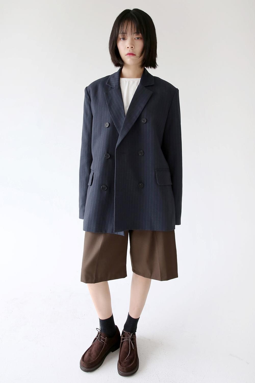 stripe boy duble jacket (navy)