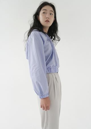 classy shirring banding blouse