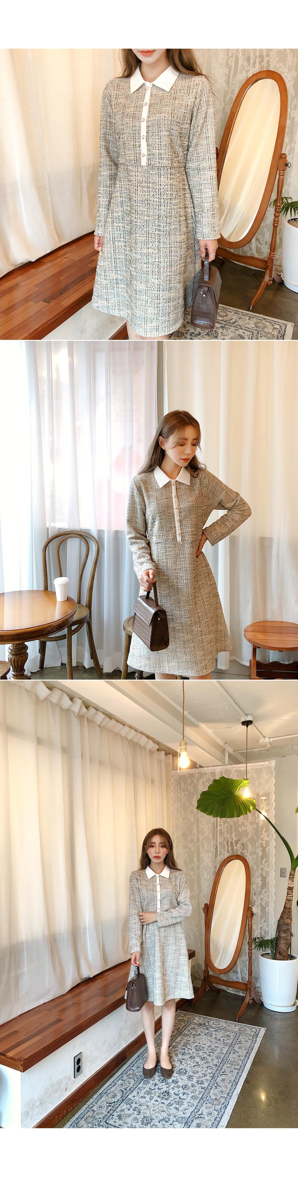 Pounding tweed dress
