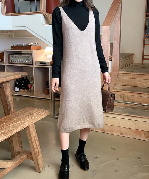 Emotional knit dress