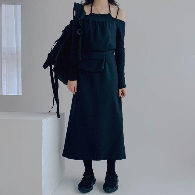 Bustier Mini Bag & Long Dress