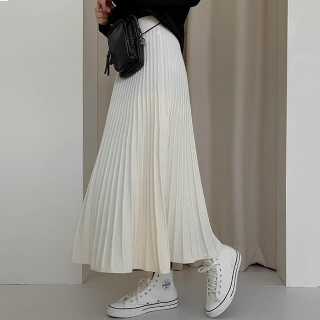 Flare Miley Knit Long Skirt