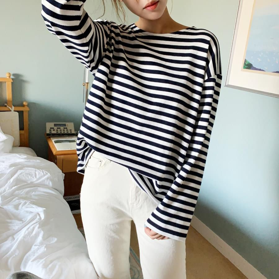 Dating striped tee