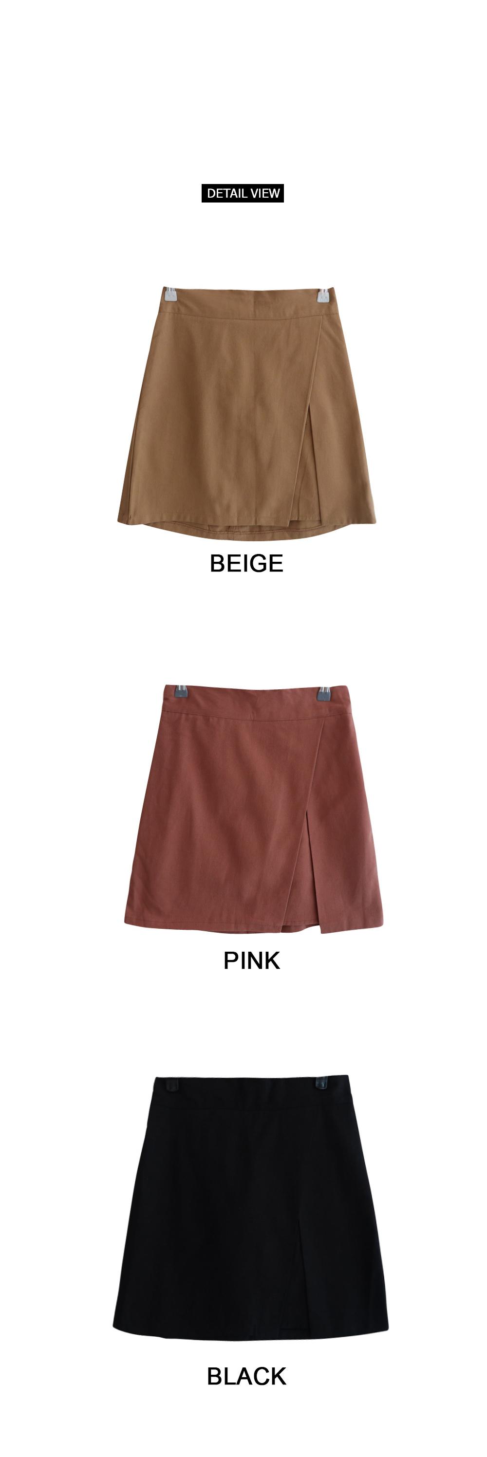 Trimmed wrap skirt