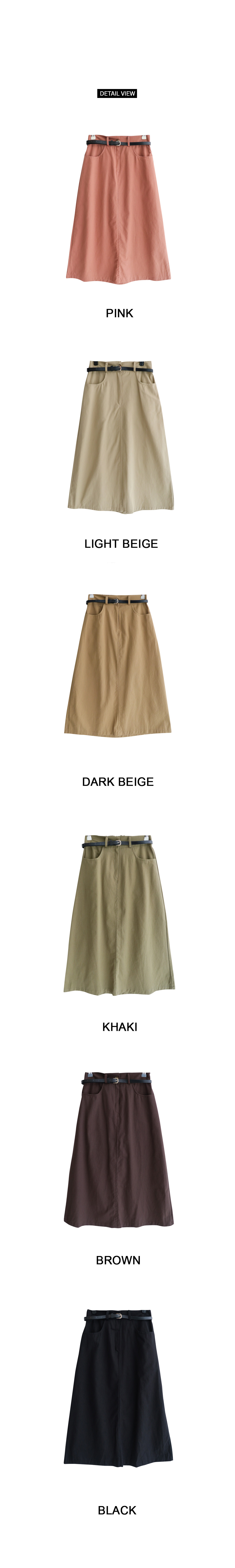 Crong cotton long skirt