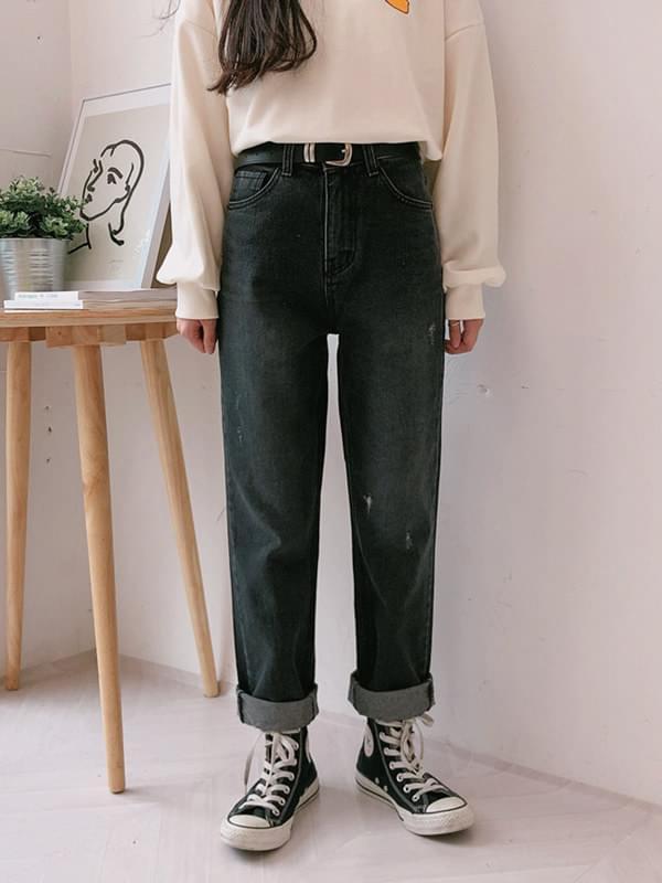 Washed Black Jeans Pants