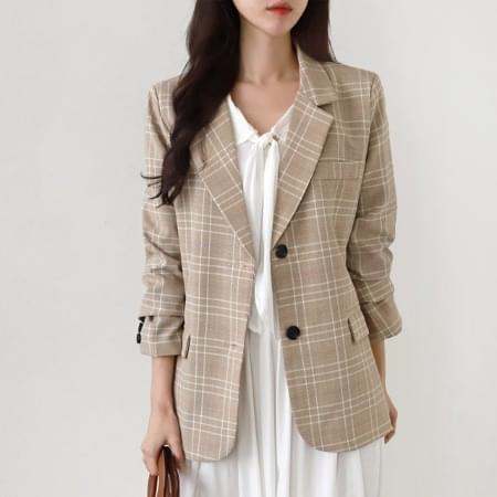 Check Jacket Women's Outerwear