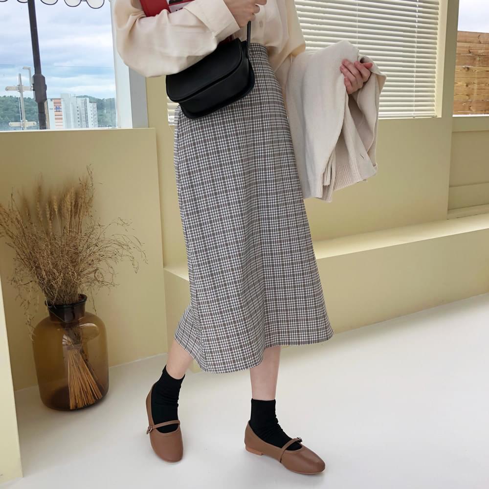 Mood & Check Skirt