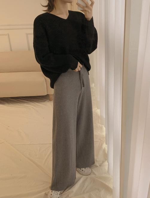 Ribbed knit pants _Y