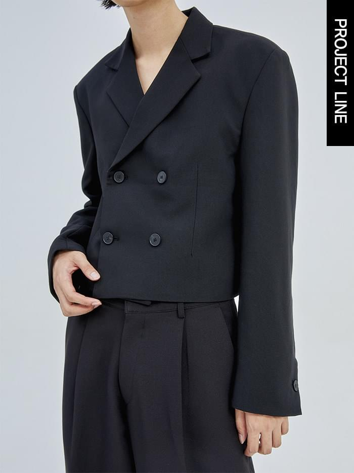 OTD - DOUBLE CROP JACKET (BLACK)