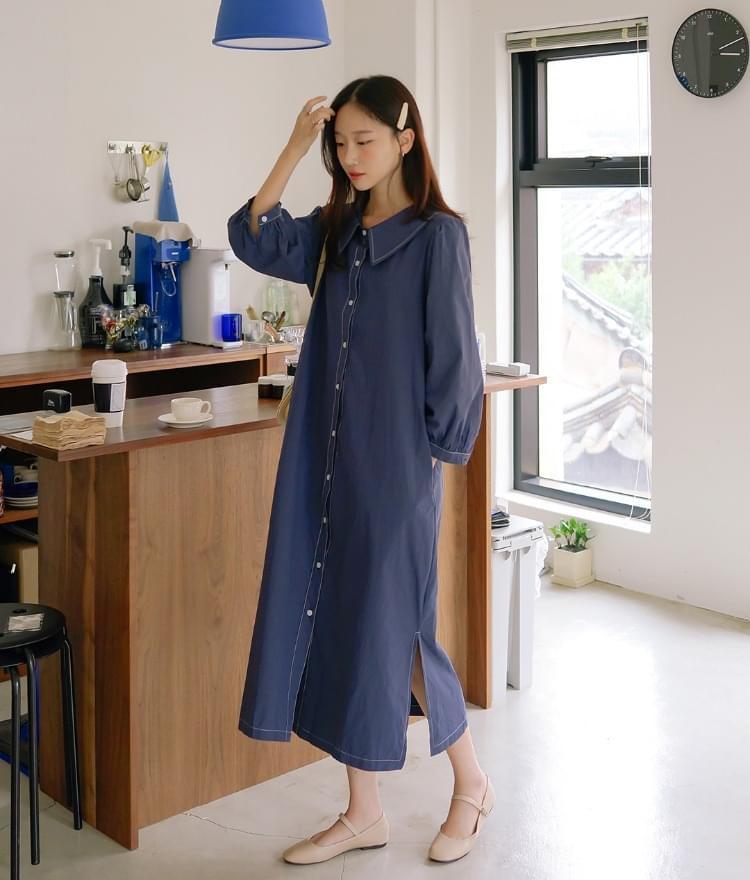 Mono stitched dress
