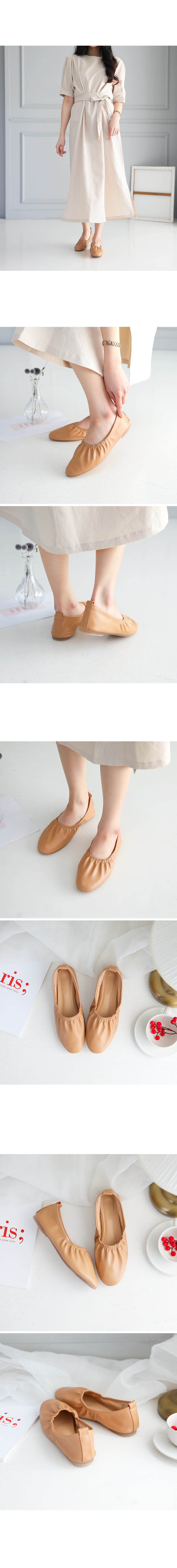 La Elt Pleated Flat Shoes 1cm