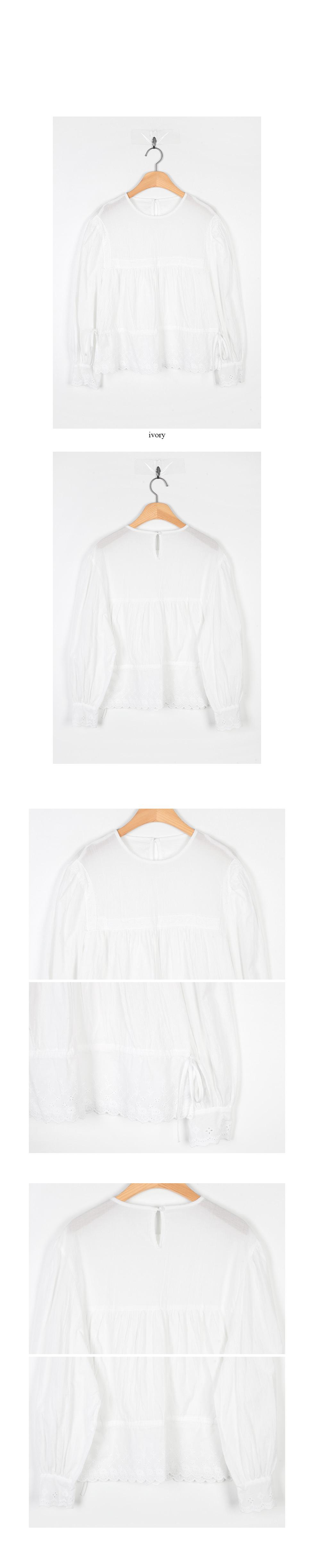 lace detail pure blouse