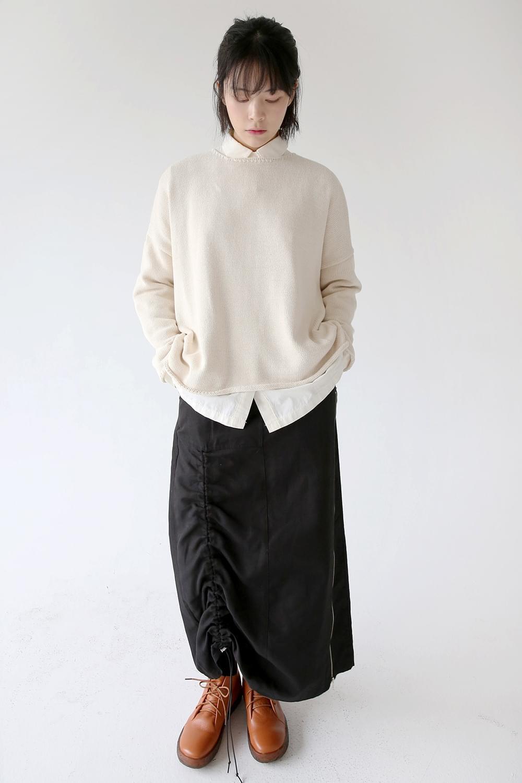 round neck basic knit (ivory)