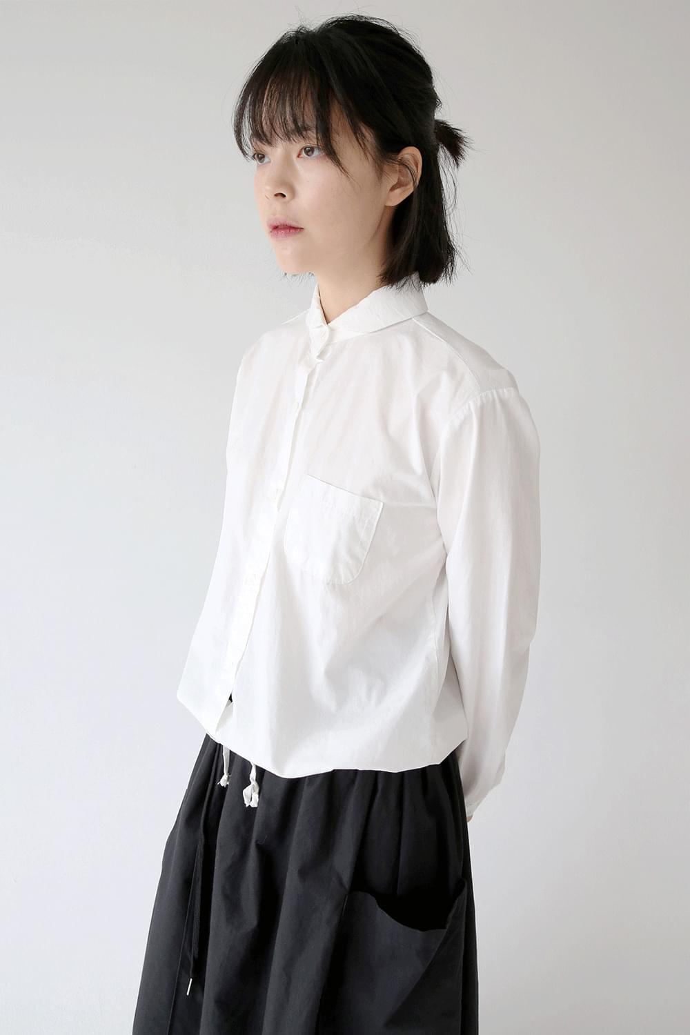 string point regular shirts (3colors)