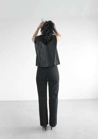 straight daily cotton pants