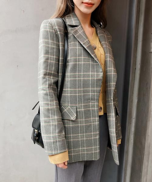 Point Good Check Jacket