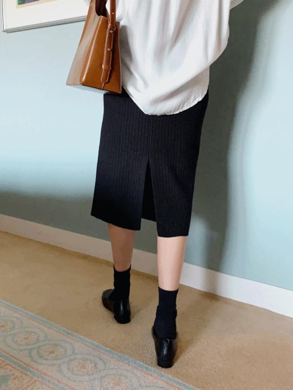 Soft ribbed skirt