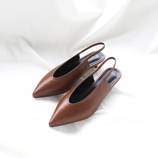 V-cut Stiletto Slingback Flat 3cm