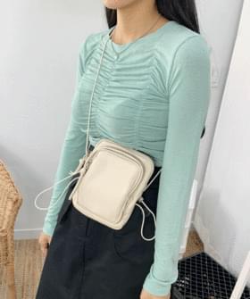韓國空運 - Pocket string mini bag 肩背包