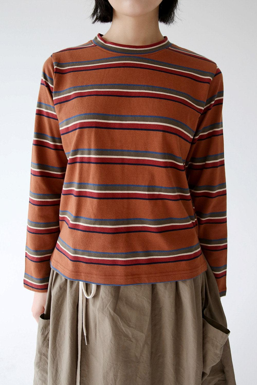 vintage colors stripe tee