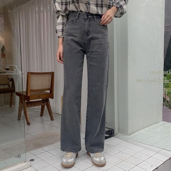 Photo Wide Denim Pants