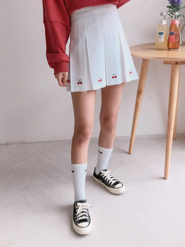 Cherry Embroidery Tennis Skirt