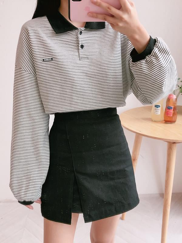 Patch Tangara Crop Collar T-Shirt