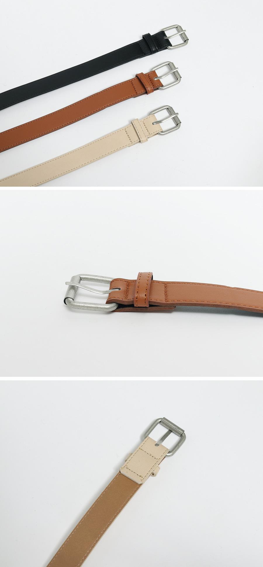 Look square buckle belt_C