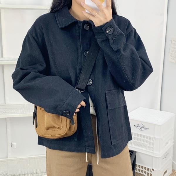 ☆ Nojinjin special price ☆ Cotton two pockets cotton jacket