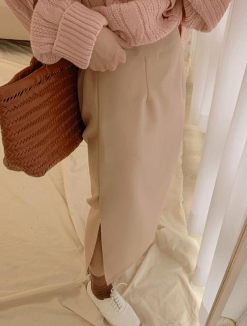 Banding slit skirt _H