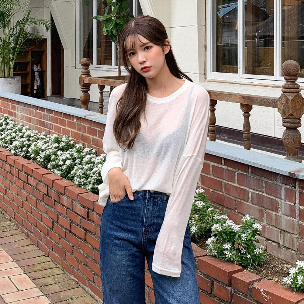 Loose-fit wool T-shirt