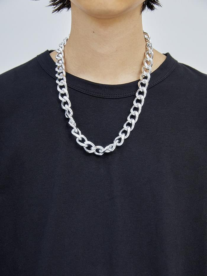 glossy chain necklace (2 color)