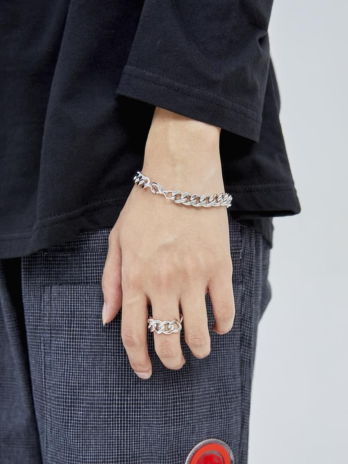 glossy chain bracelet (2 color)