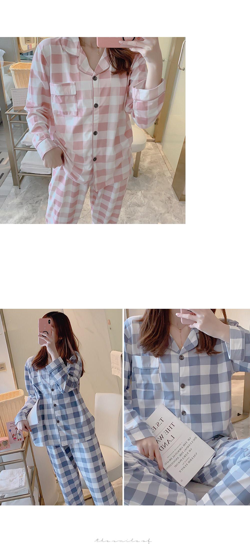 Mel Shooting Check Pajama Set