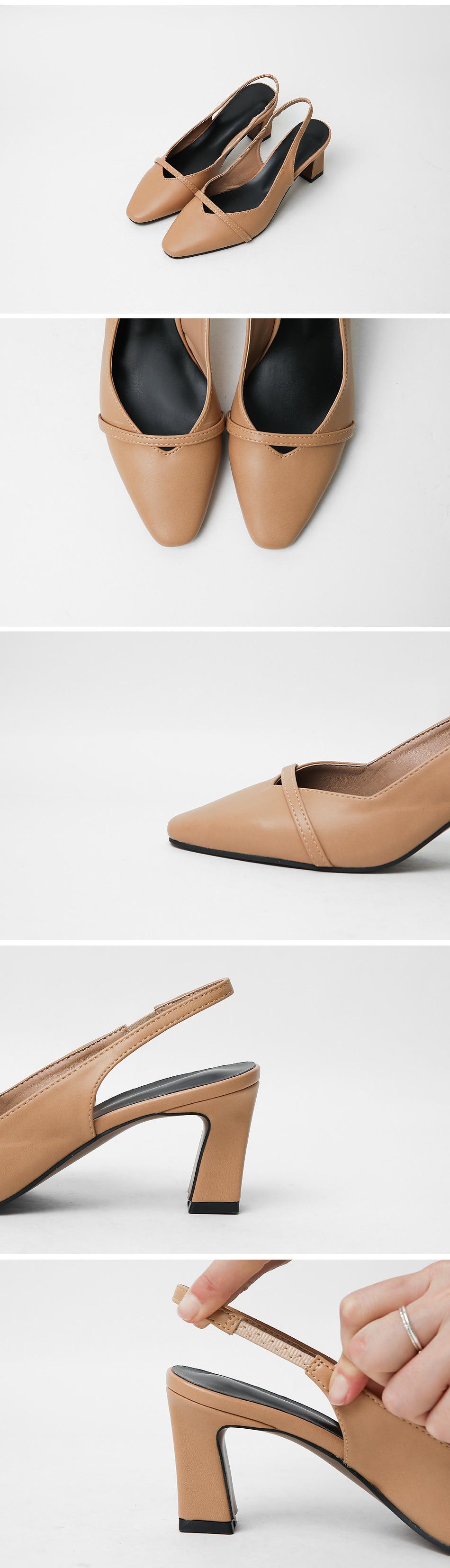 Abella Slingback Middle Heel Pumps 6cm