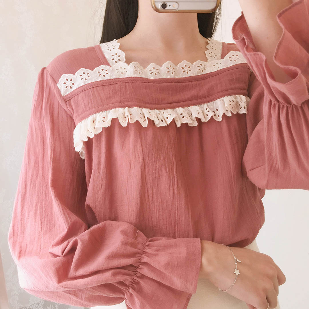Lace square blouse