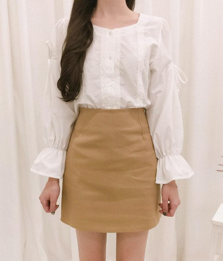 Ribbon point blouse