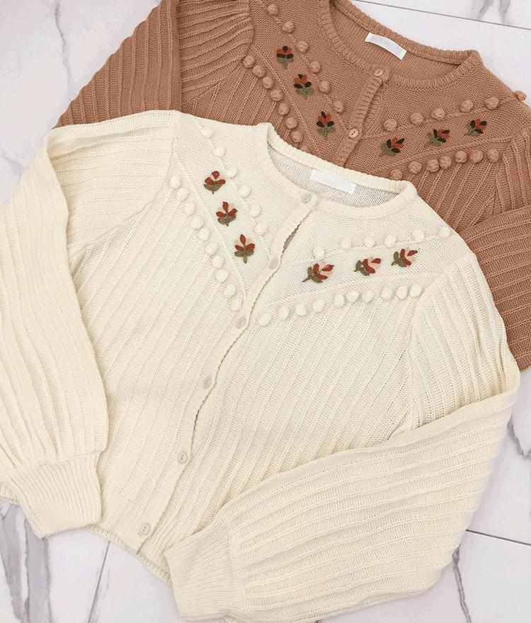 Drop Embroidery Cardigan