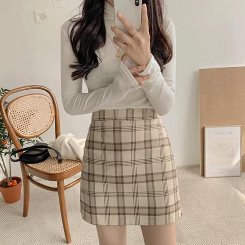 Cana check mini skirt