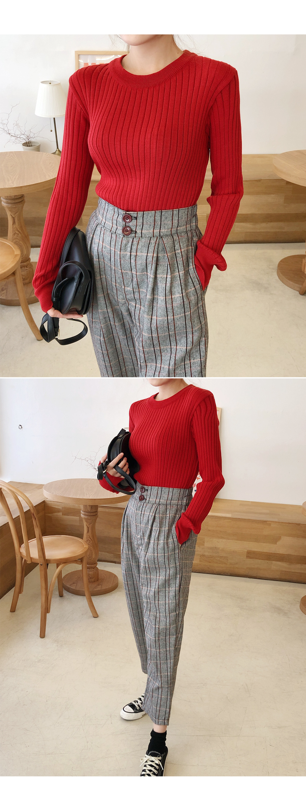 Simple Corrugated Round Knit