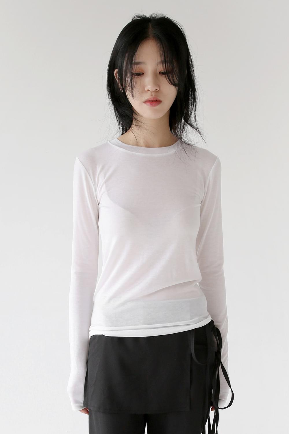 slinky tencel tee (4colors)